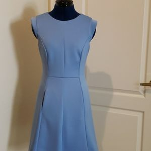 Pocket capped sleeves dress